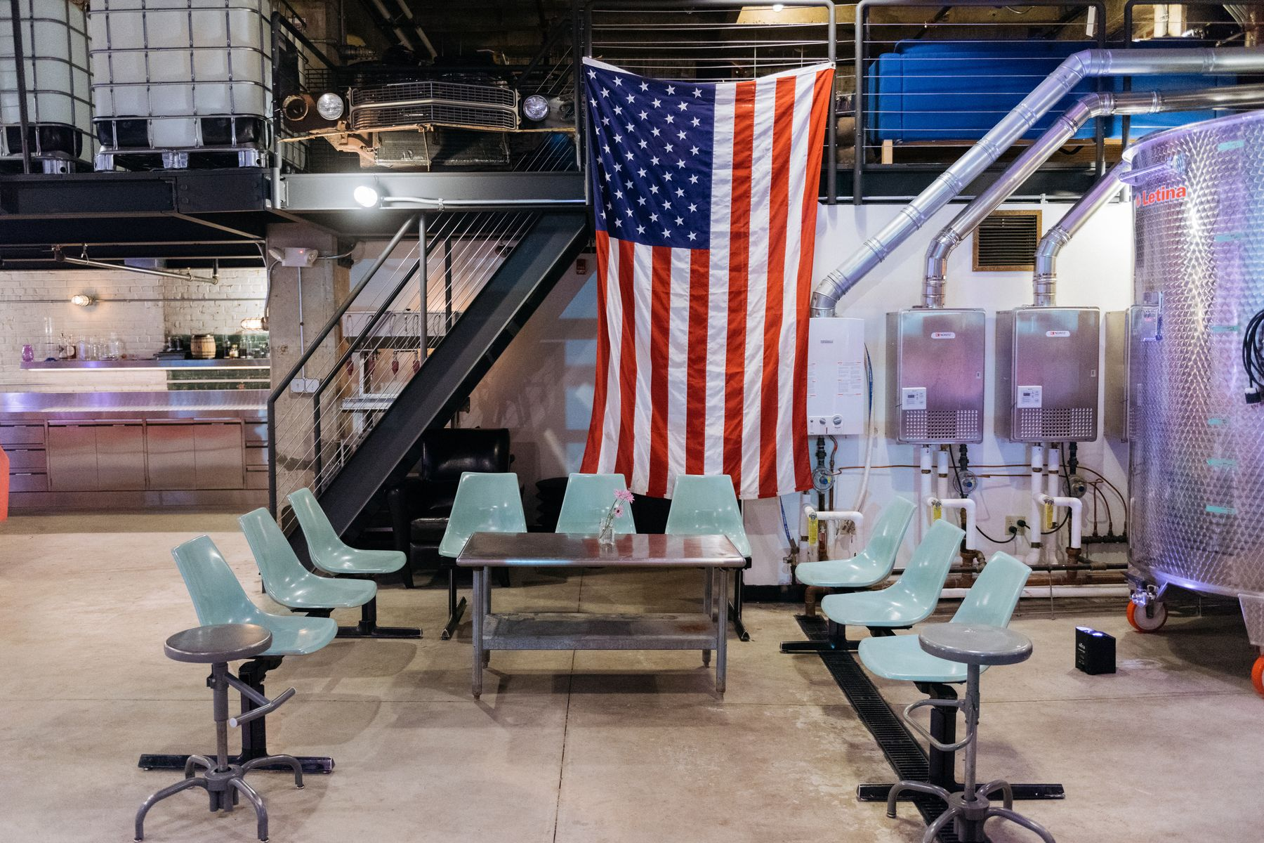 DC Distillery, Republic Restoratives, Details, Flag, American Flag, Chris Ferenzi Photography