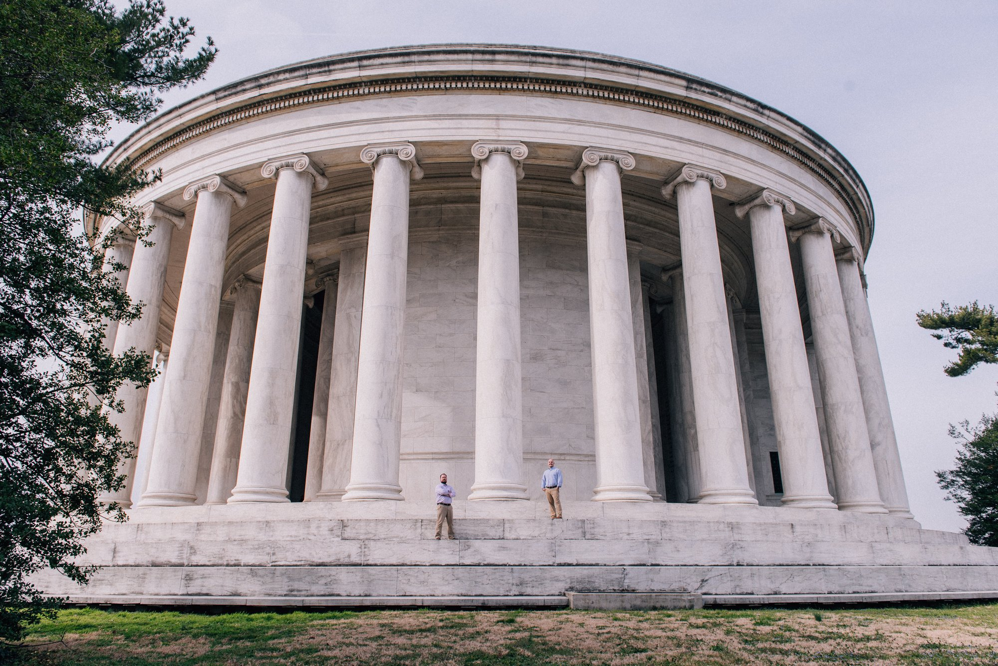 DC Same Sex Engagement Shoot at the Jefferson Memorial in Washington, DC