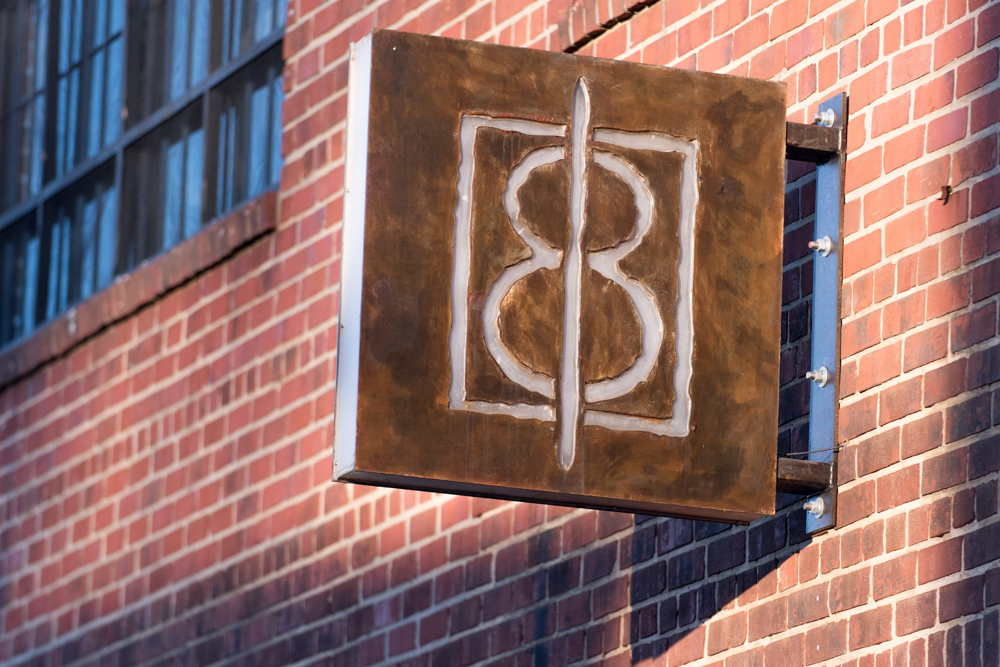The sign for the One Eight Distillery in Ivy City, Washington, DC.