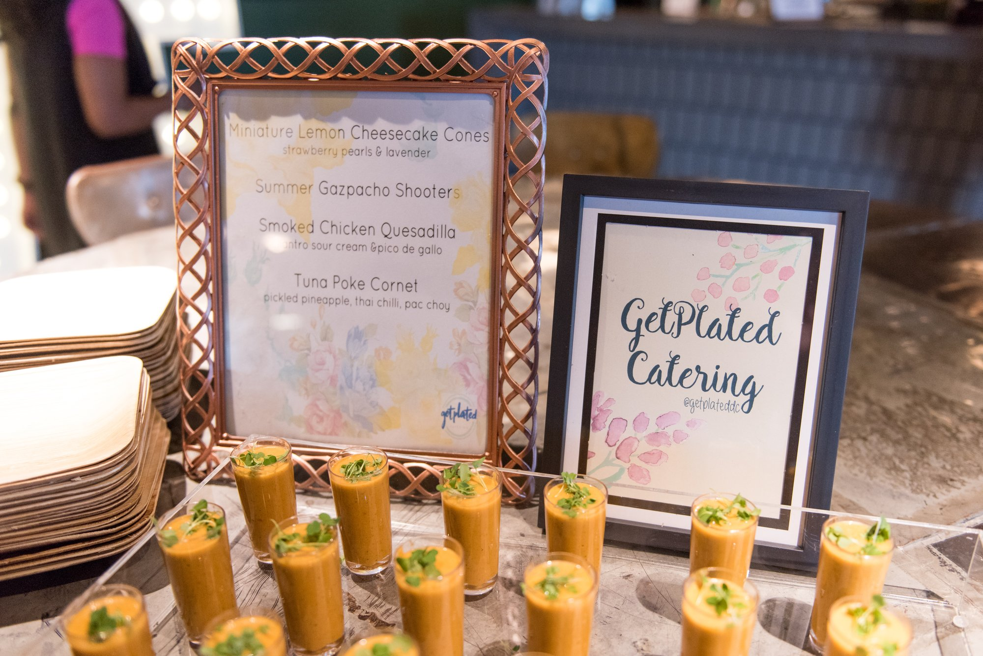 Summer Gaspacho Shooters from Washington, DC caterer Get Plated