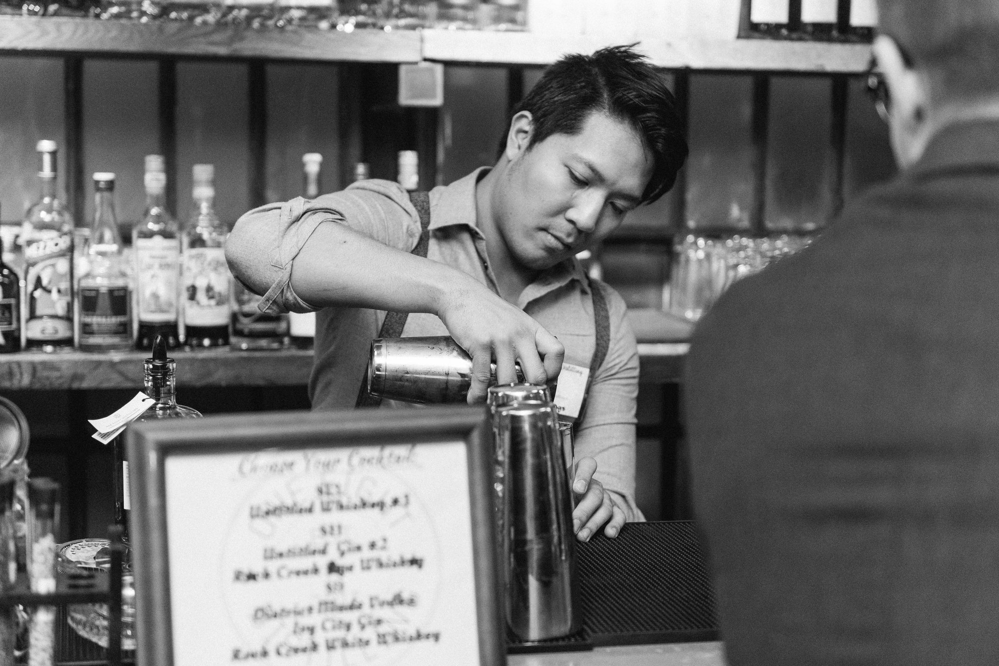 Bartender at One Eight Distilling in Ivy City, Washington, DC
