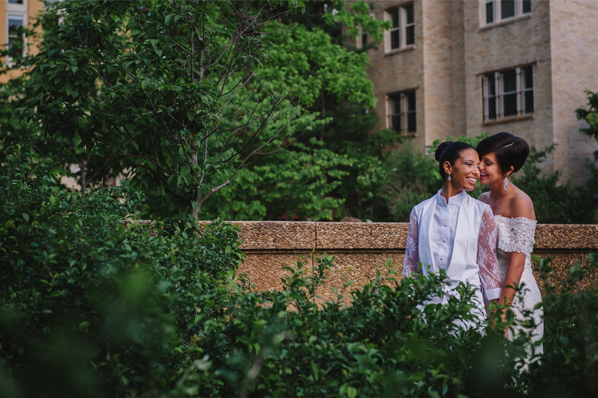 Meridian Hill Park DC LGBT Wedding Portrait